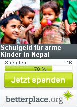 Spenden f�r Kinder in Nepal